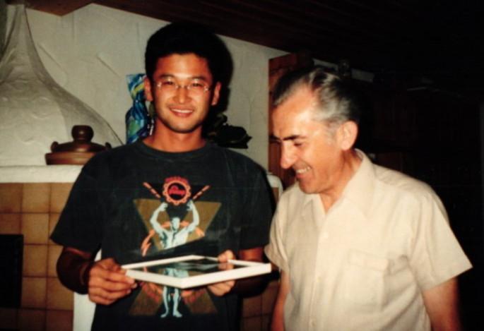 Taizo Shimano und Hans Holczer sen 1991
